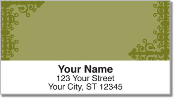 Gold Corner Scroll Address Labels