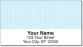 Blue Honeycomb Address Labels