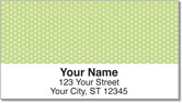 Green Honeycomb Address Labels