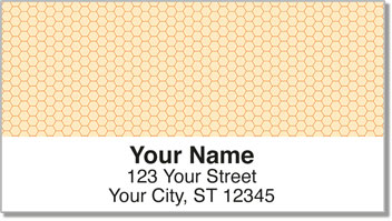 Orange Honeycomb Address Labels