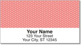 Red Honeycomb Address Labels