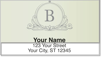 B Monogram Address Labels