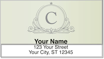 C Monogram Address Labels