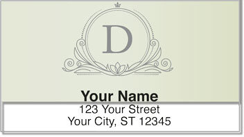 D Monogram Address Labels