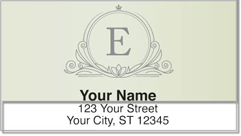 E Monogram Address Labels