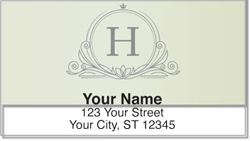 H Monogram Address Labels