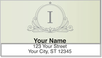 I Monogram Address Labels