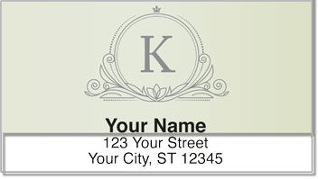 K Monogram Address Labels