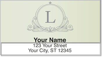 L Monogram Address Labels