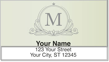 M Monogram Address Labels