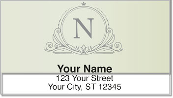 N Monogram Address Labels