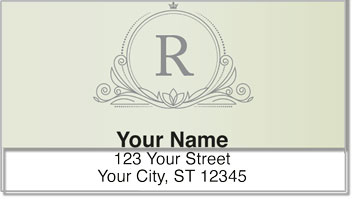 R Monogram Address Labels