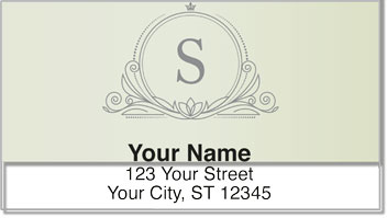 S Monogram Address Labels