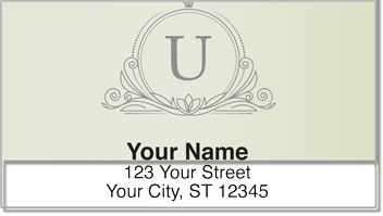 U Monogram Address Labels