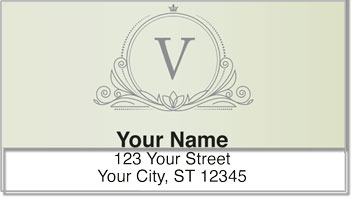 V Monogram Address Labels