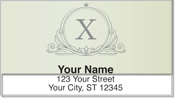 X Monogram Address Labels