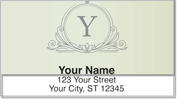 Y Monogram Address Labels