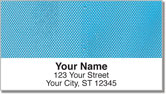 Blue Mesh Address Labels