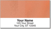 Orange Mesh Address Labels
