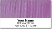Purple Mesh Address Labels