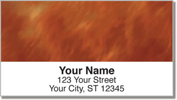 Amber Light Wave Address Labels