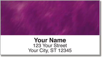 Purple Light Wave Address Labels