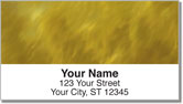 Golden Light Wave Address Labels
