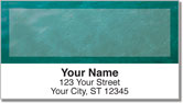 Blue Burlap Address Labels