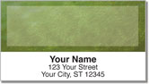 Green Burlap Address Labels