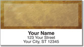 Brown Burlap Address Labels