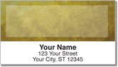 Yellow Burlap Address Labels