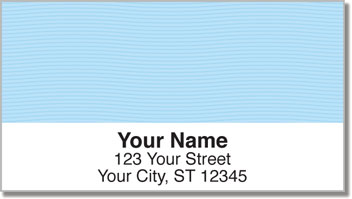 Blue Safety Address Labels