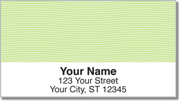 Green Safety Address Labels