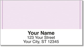 Purple Safety Address Labels