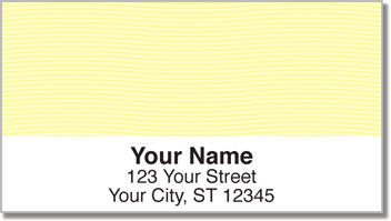 Yellow Safety Address Labels