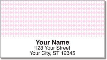 Pink Diamond Address Labels