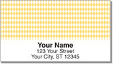 Yellow Diamond Address Labels
