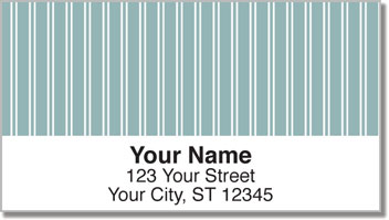 Blue Pinstripe Address Labels