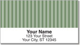 Green Pinstripe Address Labels
