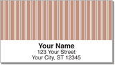 Pink Pinstripe Address Labels