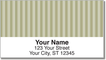 Beige Pinstripe Address Labels