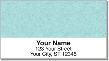 Blue Stipple Address Labels