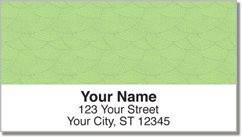 Green Stipple Address Labels