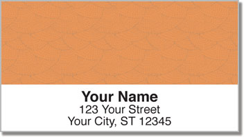 Orange Stipple Address Labels