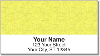 Yellow Stipple Address Labels