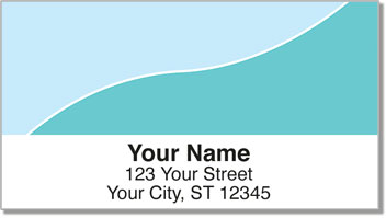 Blue Graceful Line Address Labels