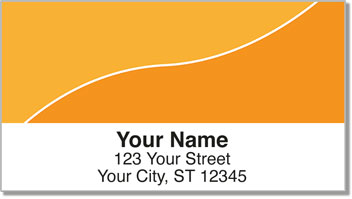 Orange Graceful Line Address Labels