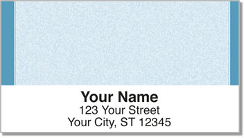 Blue Sponge Pattern Address Labels