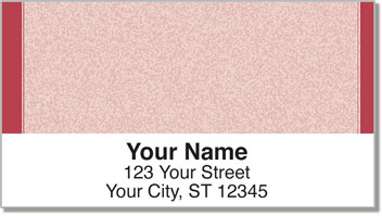 Red Sponge Pattern Address Labels
