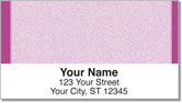Purple Sponge Pattern Address Labels